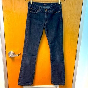 7 FOR ALL MANKIND Bootcut Jeans Sz 27 Hemmed